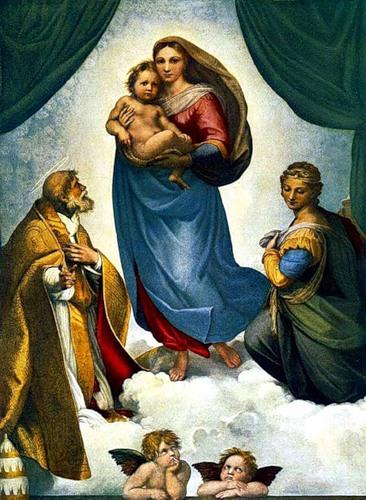 17665 Художник Рафаэль Санти, картина Сикстинская Мадонна
