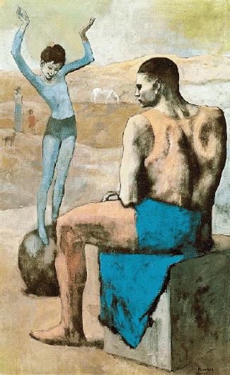 Художник Пабло Пикассо, картина Девочка на шаре