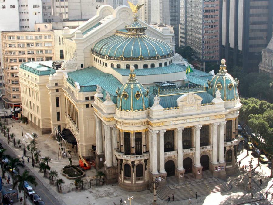 Бразилиа. Городской театр Рио-де-Жанейро.