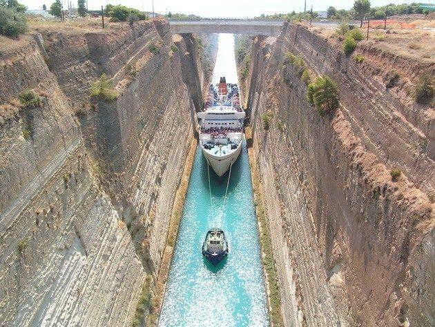 Греция. Коринфский канал