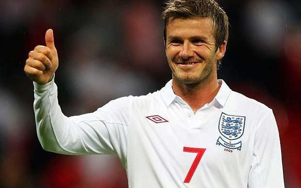 Один из британских культовых спортсменов — Футболист Дэвид Бэкхэм.