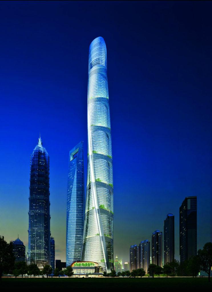 Китай. Шанхайская башня.