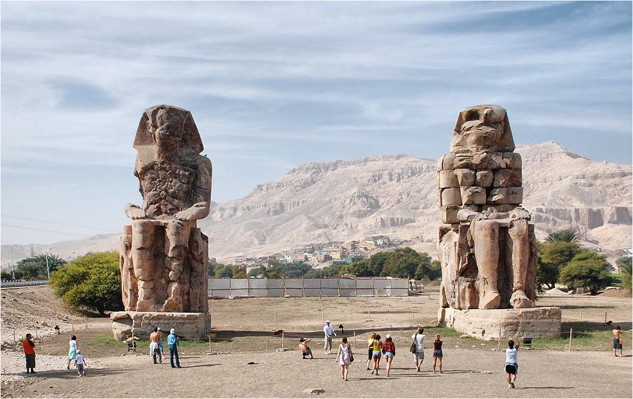 959 Египет. Колоссы Мемнона.