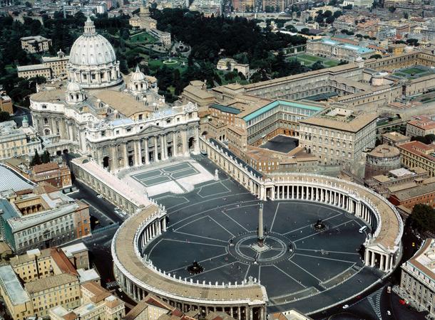 Ватикан. Площадь Святого Петра.
