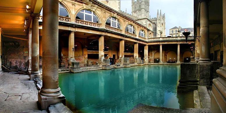 1698 Великобритания. Римские бани.
