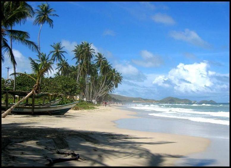 Венесуэла. Пляж Плая Эль Агуа.