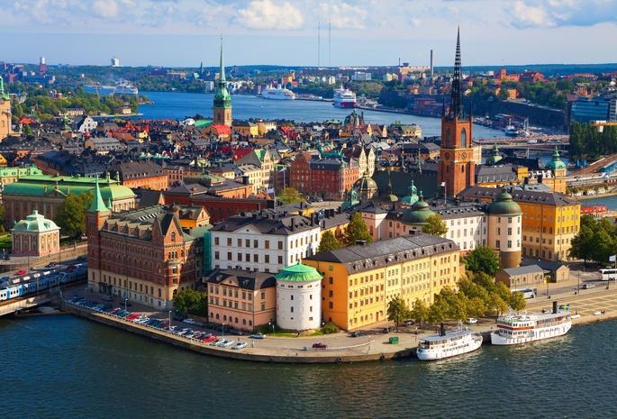 3203 Швеция. Старый город.