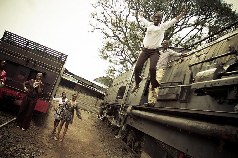4087 Кения. Железнодорожный музей Найроби.
