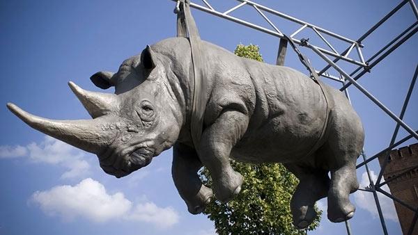 Германия. Памятник Висящий носорог