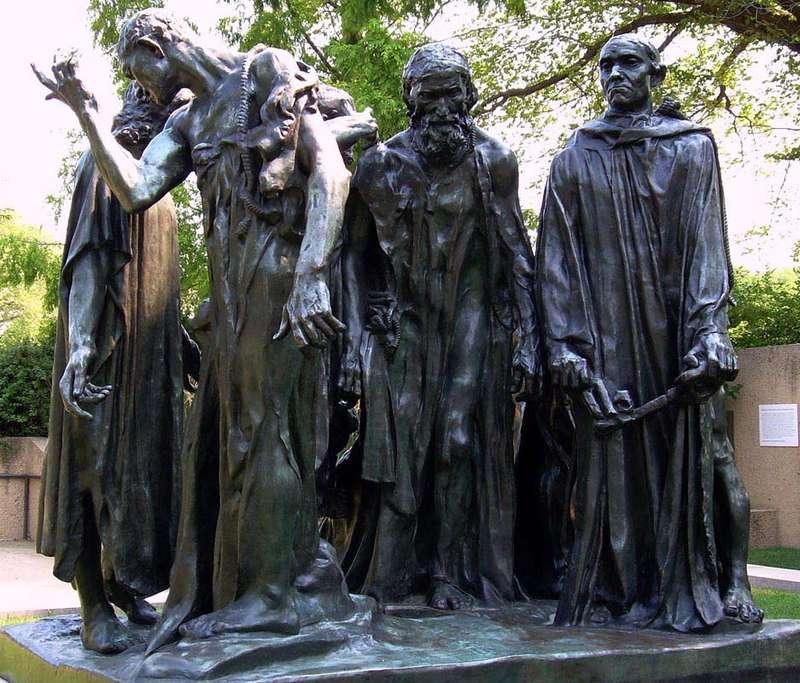 2517 Франция. Скульптура Огюст Роден Граждане Кале