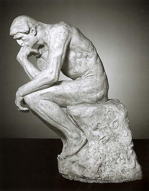 2500 Франция. Скульптура Мыслитель