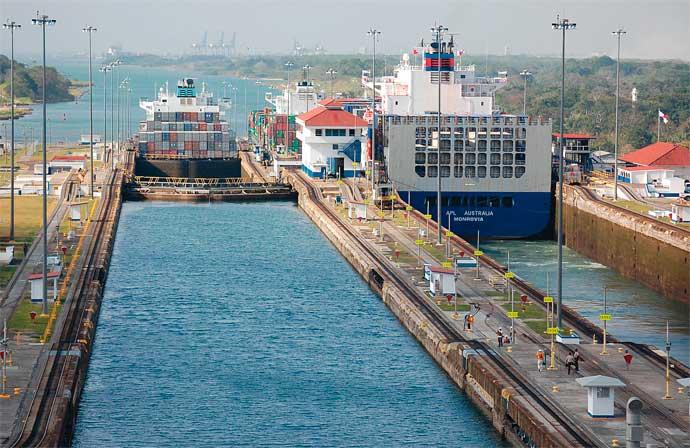 6639 Панама. Панамский канал.