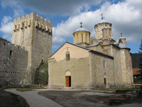 7733 Сербия. Монастырь Манасия.