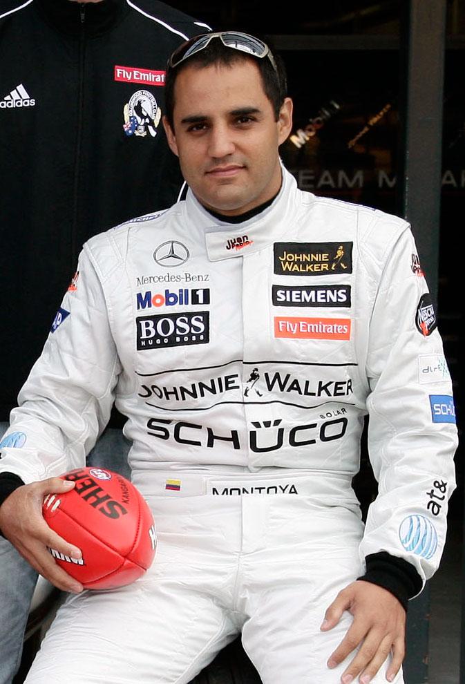 Колумбийский гонщик, Хуан Пабло Монтойя Рольдан.