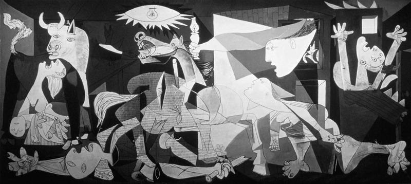 Художник Пабло Пикассо, картина Герника