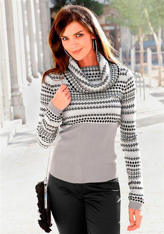 Женская модная кофта спицами одежда для полных женщин из белоруссии магазин