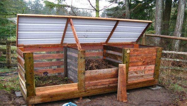 Создание и наполнение контейнера для компоста