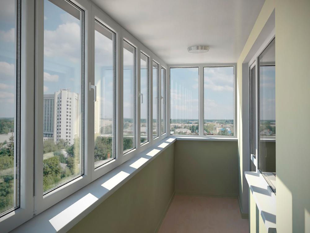 Остекление балконов и лоджий в квартире