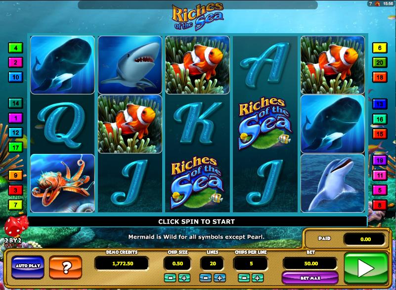 Играть в онлайн казино Вулкан (игровой автомат Premier Racing и Riches of the Sea)