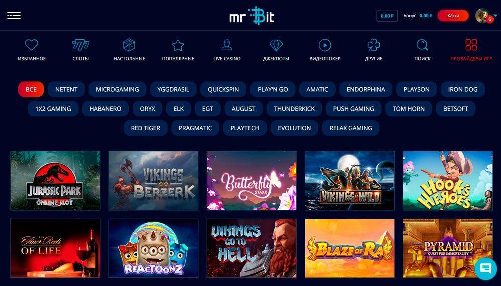 Mr Bit Casino - официальный сайт + зеркало