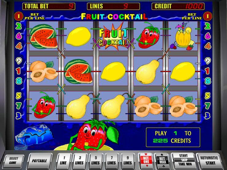 Игровой автомат Fruit Cocktail в казино Вулкан Чемпион