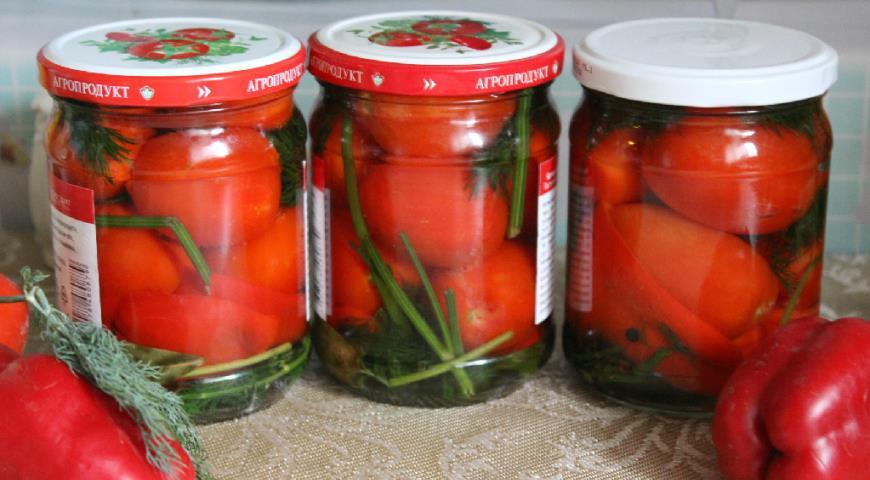 маринованные помидоры со сладким перцем