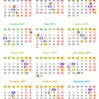 37924 Лунный календарь на апрель 2021 года