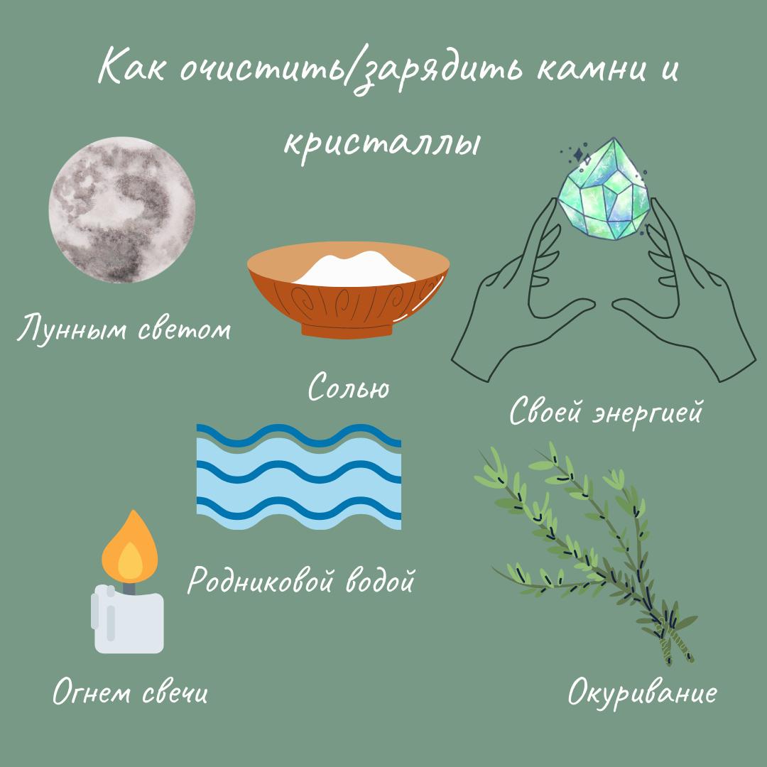 42024 Как очистить/зарядить камни и кристаллы