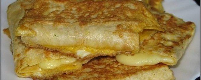 42238 Лаваш с сыром в яйце. Отличный завтрак всего за 5 минут!