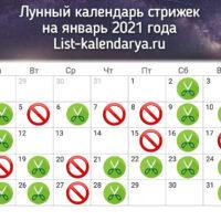 44031 Стрижки по лунному календарю на декабрь 2021