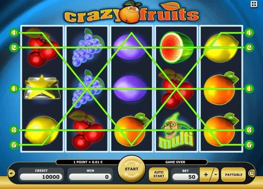 Описание слота Crazy Fruits