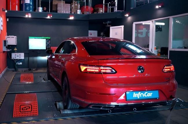 Volkswagen Arteon замер на диностенде