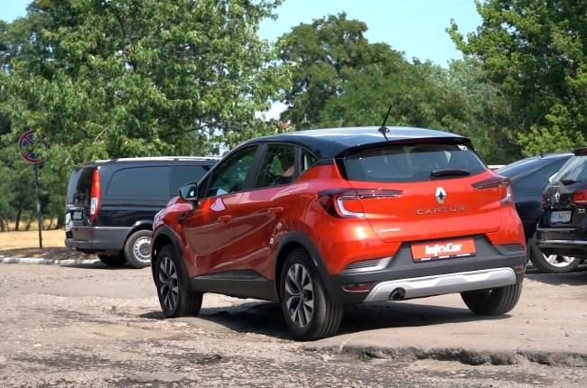 Renault Captur езда по плохой дороге