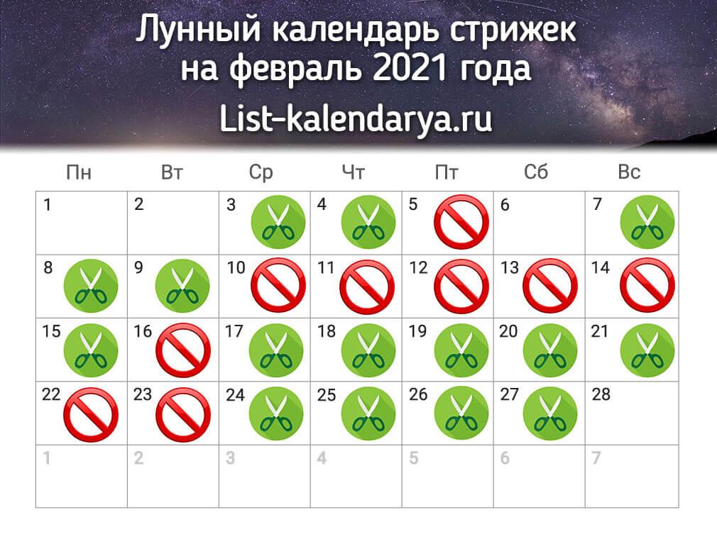 45380 Лунный календарь стрижки на сегодня 02-10-2021