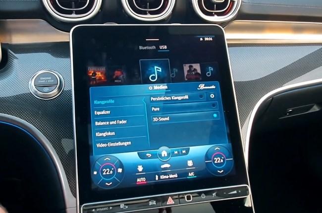 Mercedes-Benz C-Class мультимедийная система